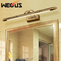 Europe cosmetic mirror lamp 500mm 8W led moisture bathroom light retro dresser wall lamps