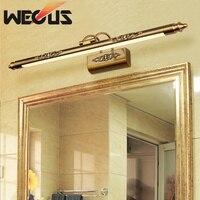 Europe cosmetic mirror lamp 500mm 8W led moisture bathroom light retro dresser wall lamps