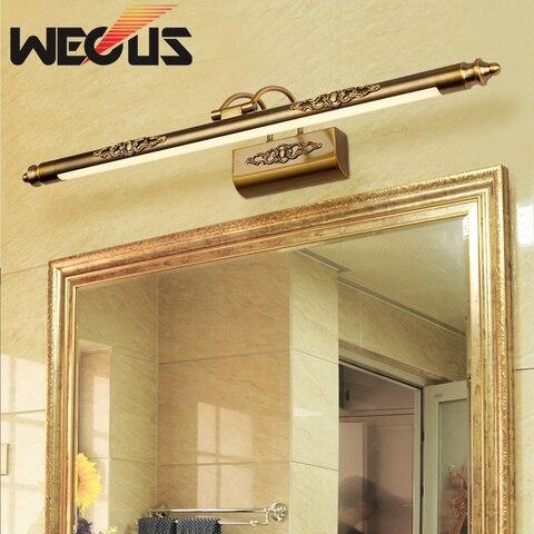 europa espelho cosmetico lampada 500mm 8 w led umidade luz do banheiro retro lampadas de