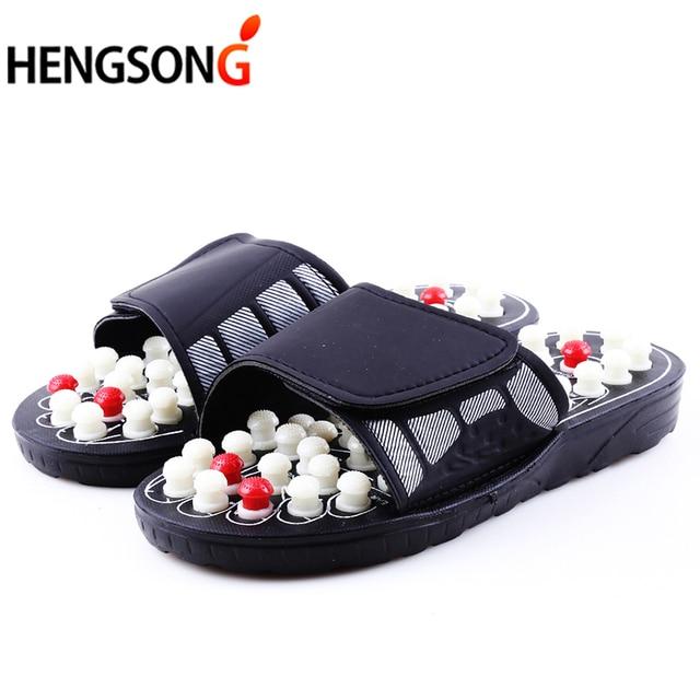 438d3c2b87f Acupoint массажные тапочки сандалии для Для мужчин ноги китайской  Акупрессура Терапия Медицинская ступней Массажная обувь унисекс
