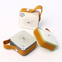 Мини-динамик Bluetooth кожаный ремешок беспроводной оригинальный аудио-и водонепроницаемый FM радио Bluetooth 4.0 аккумуляторная батарея микрофон