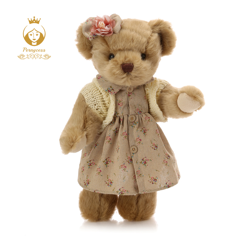 1PCS 30CM cute retro teddy bear plush stuffed toys, plush joint bear doll, kids toys, appease dolls, birthday gift fancytrader biggest in the world pluch bear toys real jumbo 134 340cm huge giant plush stuffed bear 2 sizes ft90451