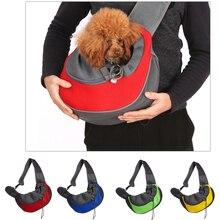 Сумка-переноска для питомца щенка, сумка для путешествий на открытом воздухе, Сетчатая Сумка на одно плечо, Удобная дорожная сумка на плечо для собак S/L