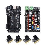 Bigtreetech rampas 1.6 plus e clone re-arm 32 bit placa-mãe com tmc2130 tmc2100 tmc2208 drv8825 driver para peças de impressora 3d