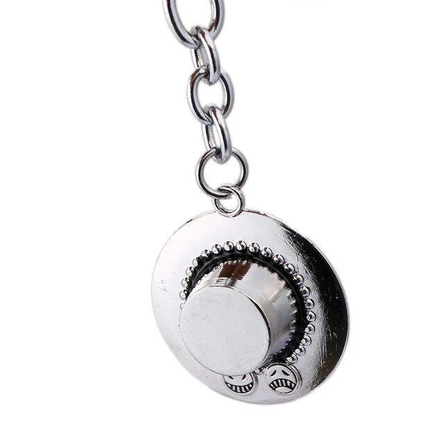 HSIC une pièce porte-clés ACE chapeau porte-clés 3D Vintage pendentifs porte-clés en métal porte-clés Anime porte-clés pour les Fans Souvenirs 11939