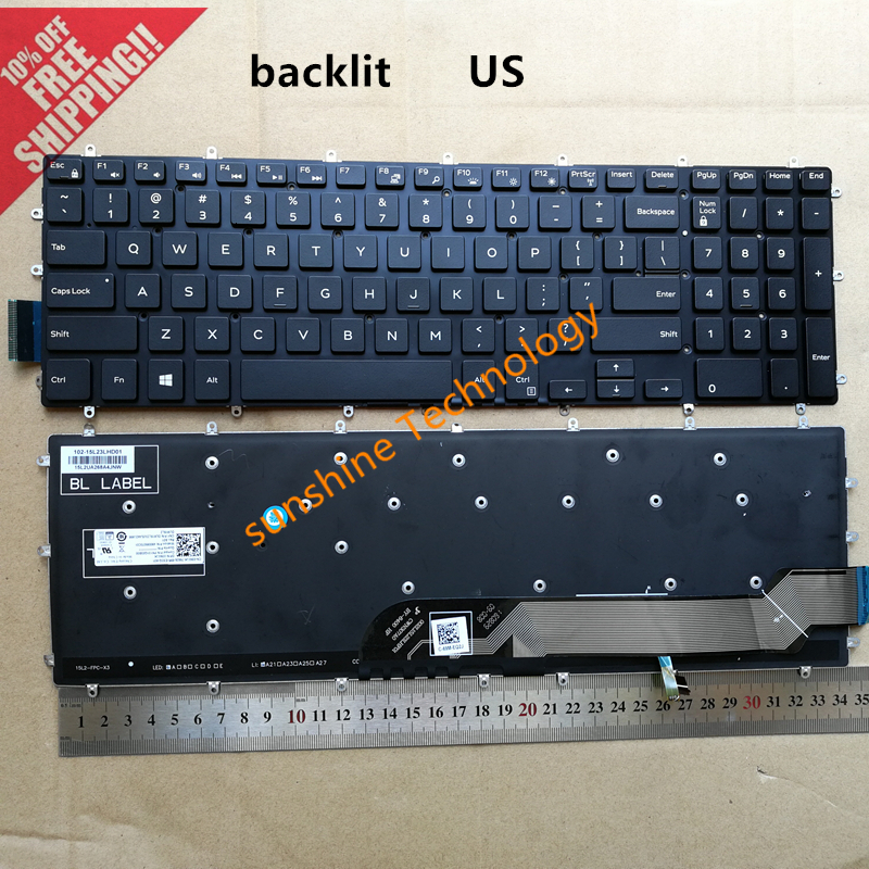 NEW For Dell Inspiron 15 Gaming 7566 7567 Russian Keyboard With Backlit