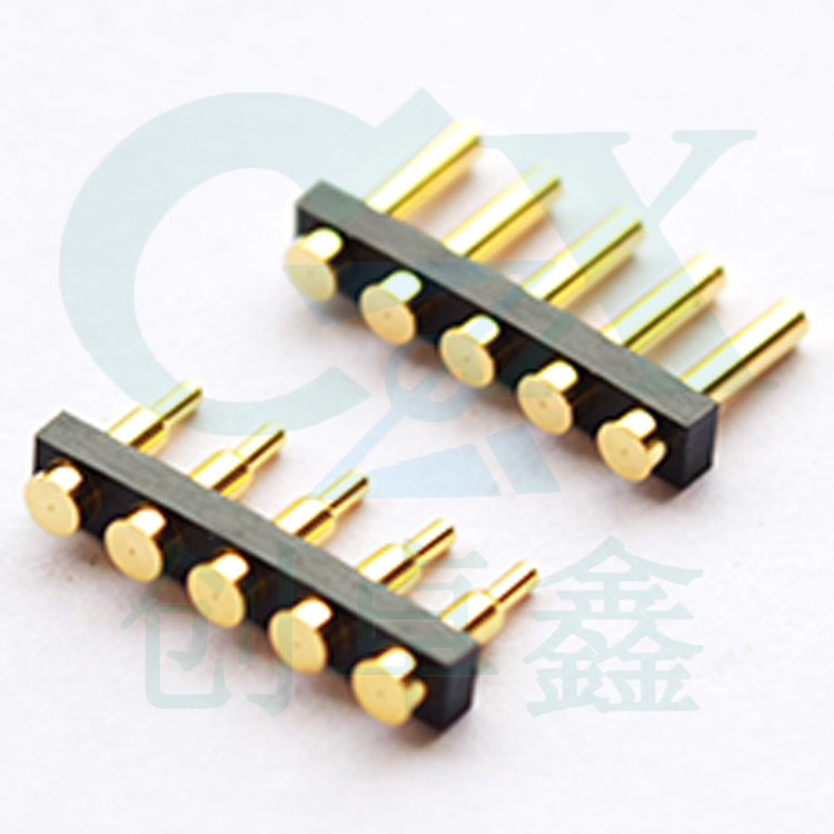 цена на female and male pitch 3.0mm 5pin 5 hole PCB solder spring loaded pogo pin connector
