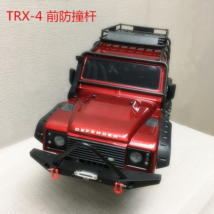 1/10 Rc Climbing Car Part CNC Metal Alloy Front Bumper Collision FOR TRAXXAS TRX-4 TRX4 Axial Scx10 Including Lights 1 10 rc climbing car part cnc metal alloy front bumper collision for traxxas trx 4 trx4 axial scx10 including lights