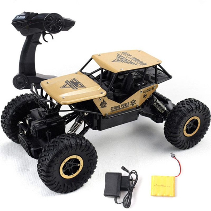 1:18 Electric RC Cars 4CH  Off-road Vehicles Anti-crash 2.4G High Speed SUV CAR Climbing Toy Car Remote Car Model  Black/Gold/Si