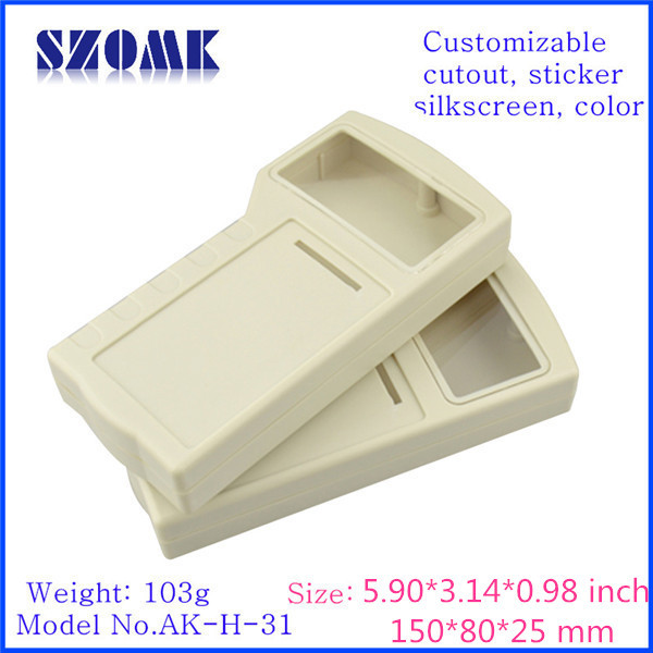 Пластиковые корпуса для электроники 4 х АА батареи держатель (10 шт.) 155*80*25 мм szomk Электрический корпус pcb