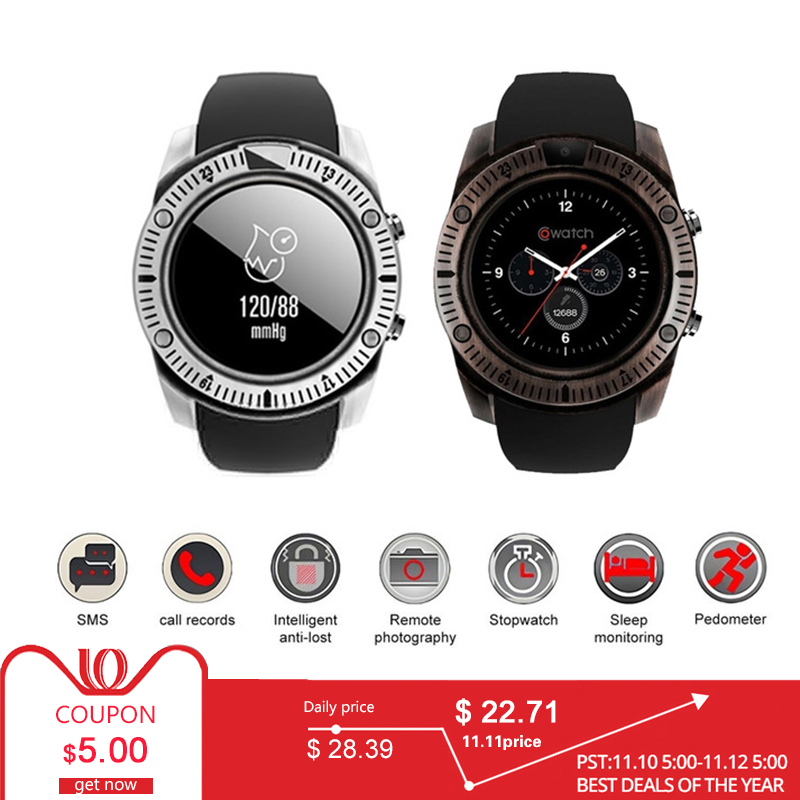 купить Bluetooth Smart Watch Retro With Touch Screen Big Battery Support SIM SD Card Remote photography For IOS iPhone Android Phone по цене 1351.11 рублей