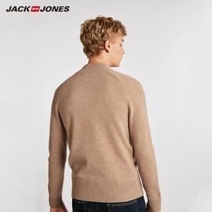 Image 3 - Мужской шерстяной свитер JackJones, повседневный Плетеный свитер с цветочным принтом и надписью, 218324558