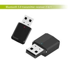 Nuevo adaptador bluetooth receptor transmisor inalámbrico 2 en 1 3,5mm Aux PC TV auriculares estéreo para coche audio doc player adapter LYJF