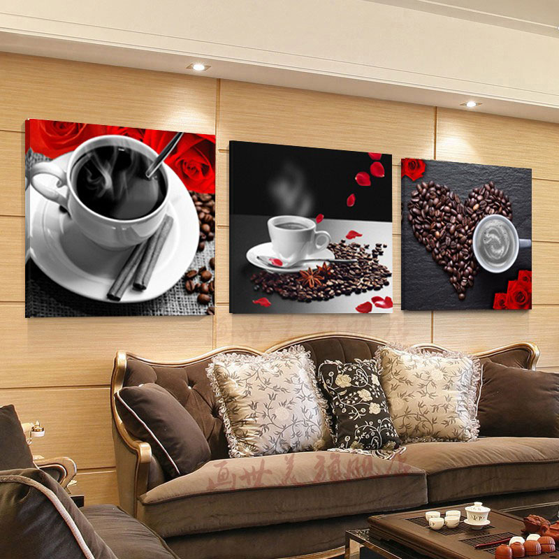 Canvas Painting 3 Piece Oil Painting House Decorative Wall Pictures Wall Decoration Pictures Coffee Home Decor No Frame