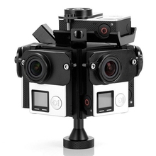 Assemble Gopro HD Hero 3+ 4 Full Shot Alu Case 360 Degree Spherical Panorama Frame Mount VR Video Mount for aerial photography