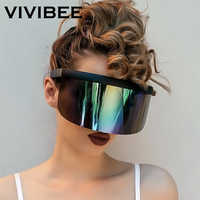 VIVIBEE Nicki Minaj, gafas de sol con visera para mujer, producto de moda 2019, gafas de sol divertidas con espejo UV400