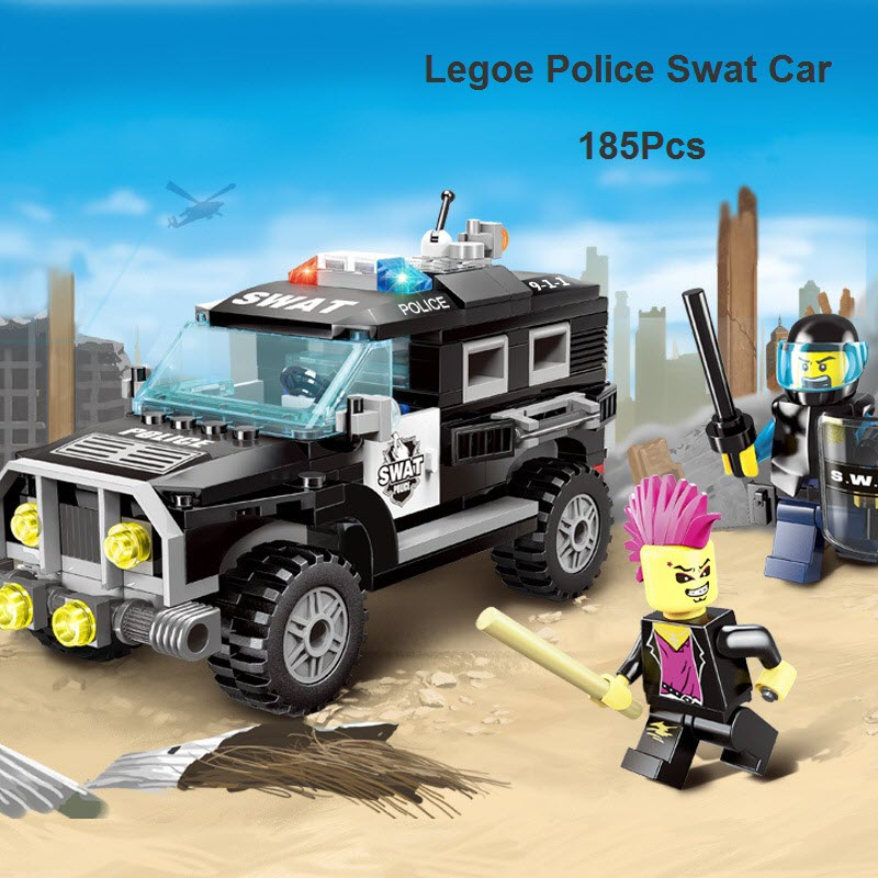 2016 Legoe City Police Swat Series Car Model Building Block Sets Kids Educational Bricks Toys For Children Toy Gift 1110 1711 city swat series military fighter policeman building bricks compatible lepin city toys for children