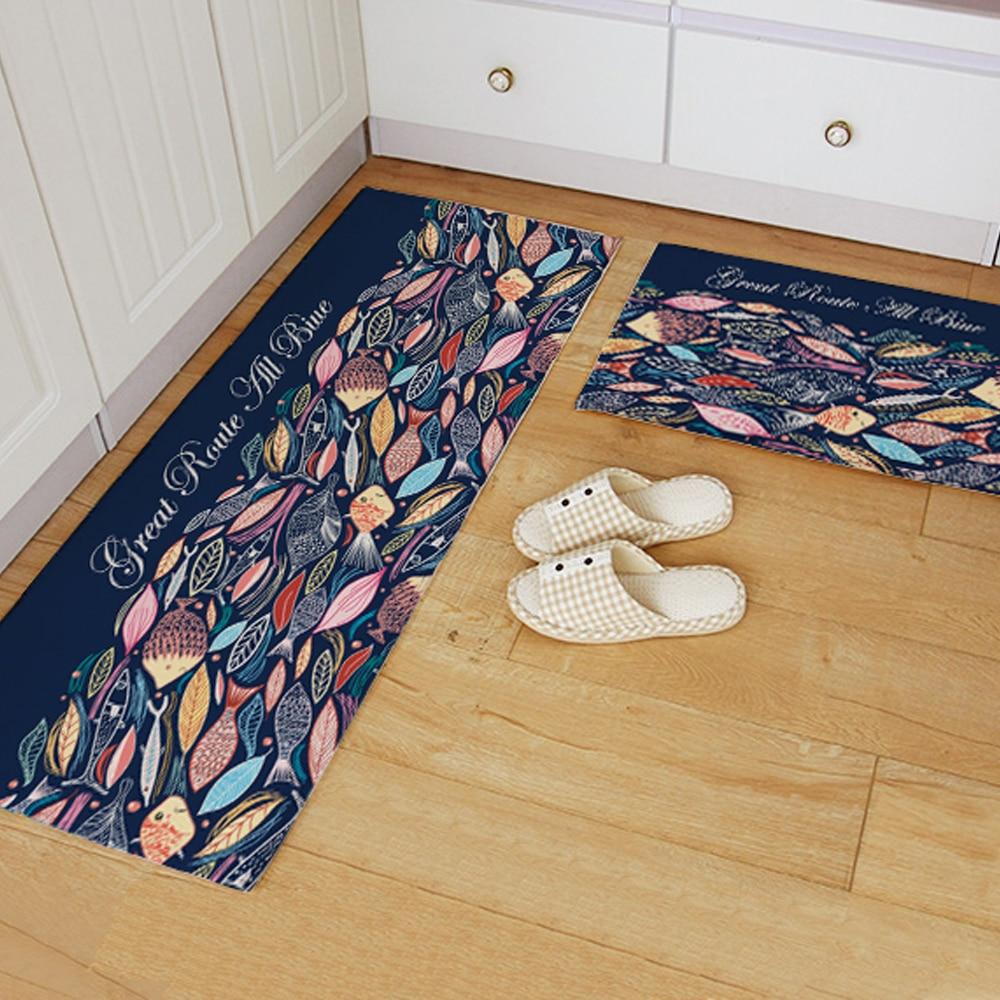 Online kopen wholesale blauw keuken tapijten uit china blauw ...