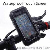 Outdoor Motorfiets Fiets Mobiele Telefoon Houder Stand Ondersteuning voor iPhone X 8 7 6 6 s Plus 5 s GPS Waterdicht Touchscreen Case