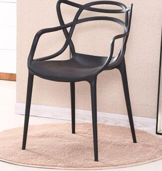 Modern dining chair plastic backrest chair armrest outdoor leisure coffee office reception negotiation chair vine chair. premium tartan fabric tub chair armchair dining living room office reception hot sale
