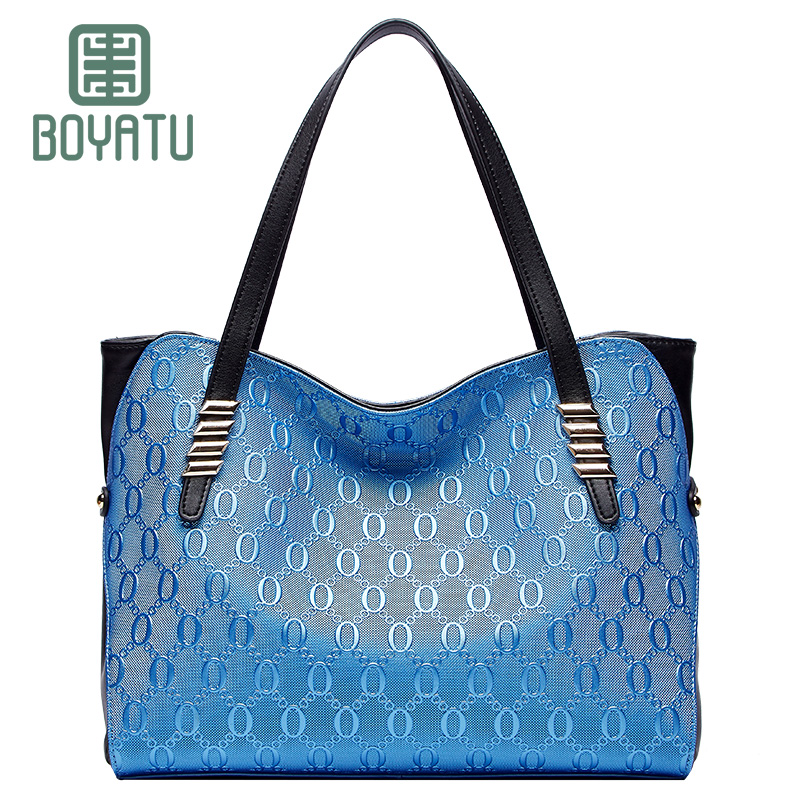 BOYATU Shoulder Bag Luxury Handbags Women Bags Designer Genuine Leather Bag Zipper Women Purse Sac A Main Bolsas Large Capacity aelicy women s leather handbags female shoulder bag luxury designer lady tote large capacity zipper handbag for women bolsas