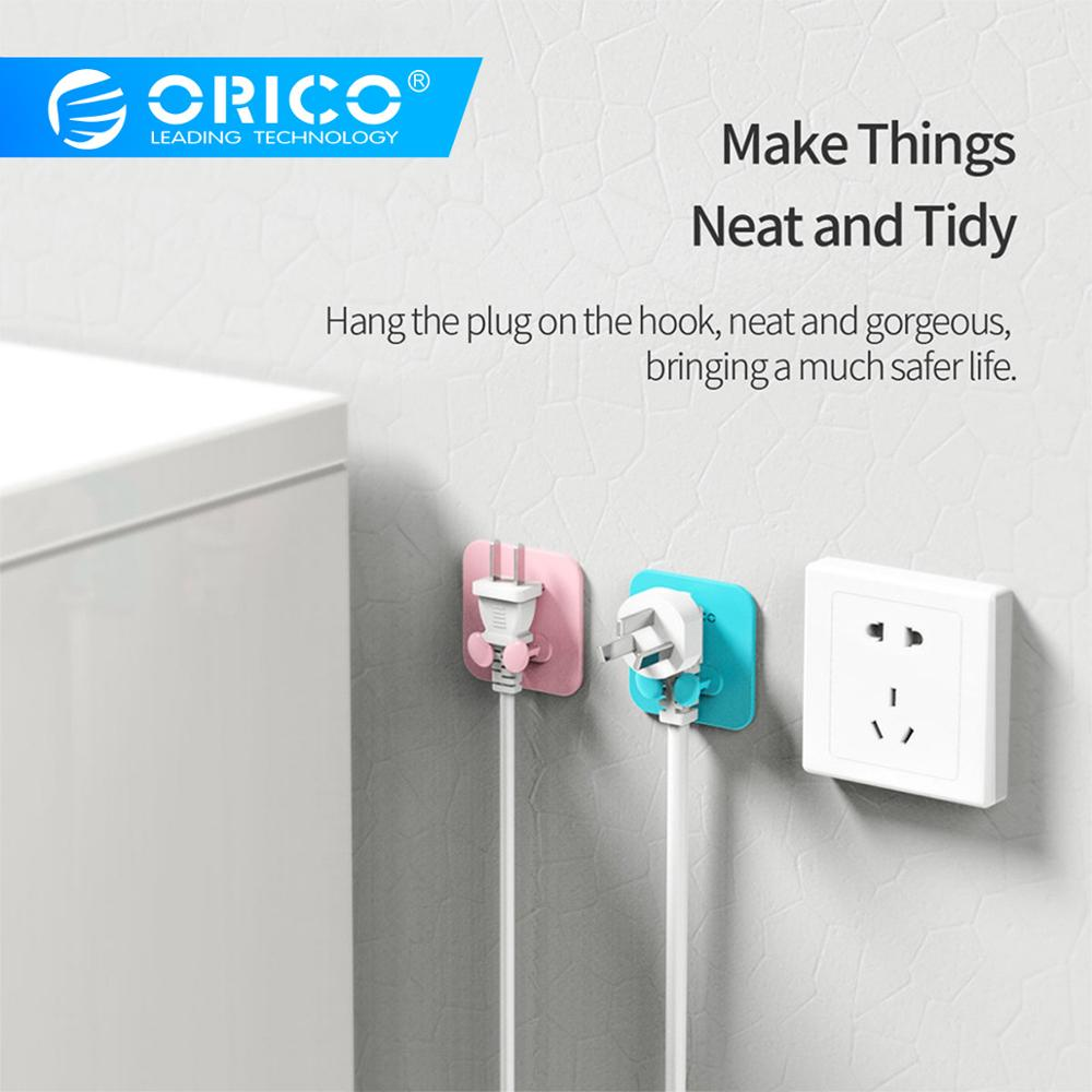 ORICO SG WT2 Silicone Cable Holder Cable Plug Management Plug Storage Hook Power Plug Socket Holder ORICO SG-WT2 Silicone Cable Holder Cable Plug Management Plug Storage Hook Power Plug Socket Holder Hanger Wall Storage Hook