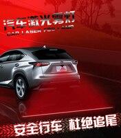 Freeshipping Anti Collision Rear End 12V 24V Car Laser Tail Fog Light Auto Brake Parking Lamp