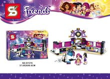sy379 friends series Pop Star The dressing room 312pcs building blocks bricks toys children gift Compatible With Legoe 41104