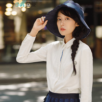 Wormwood Ideas Of New Fund Of 2017 Autumn Outfit Splicing Placket Long Sleeve Shirts Cotton And