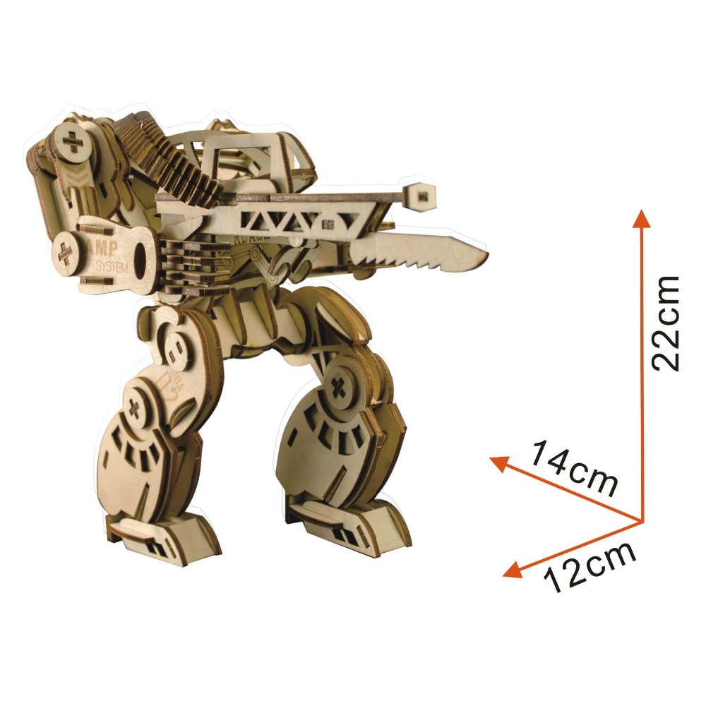 model Mechanical Armor Color Boxed Cross border Special 3D Wooden Model Three dimensional Puzzle Plate Laser gundam war in Model Building Kits from Toys Hobbies