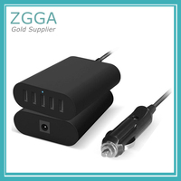 Original Quality 5V 9A 45W Fast Charging USB Car Adapter Charger With 5 Ports For Tablet PC