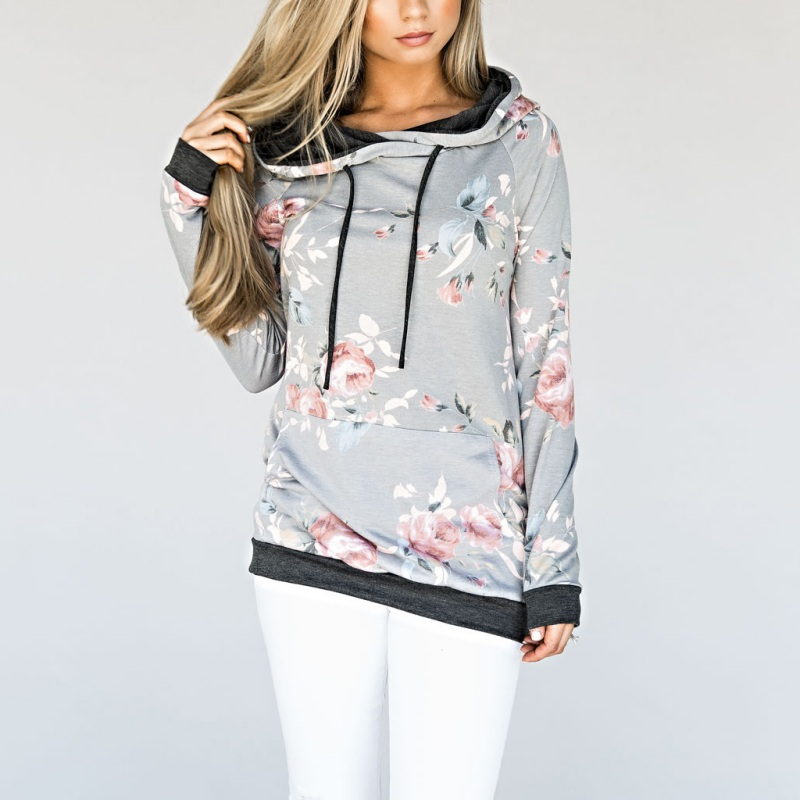 NEW Women Hoody Autumn Long Sleeve Printing Fashion Casual Sweatshirt Hooded Winter Cloth S3