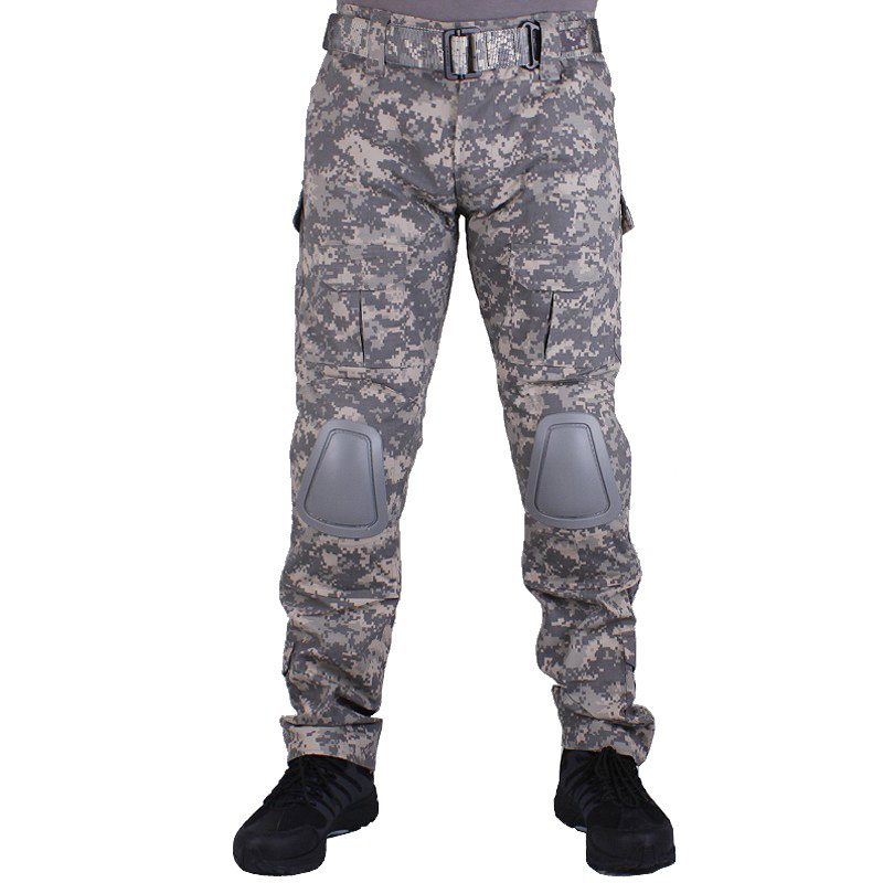 Camouflage military Combat pants men trousers tactical army pants with Removable knee pads ACU mgeg militar tactical cargo pants men combat swat trainning ghillie pants multicam army rapid assault pants with knee pads