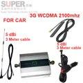 Para A Rússia de carro do impulsionador 3G 2100 Mhz impulsionador do sinal do telefone móvel para o carro, display LCD WCDMA 2100 mhz repetidor de sinal 3G para o veículo