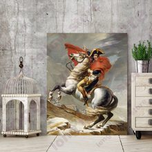 French Emperor Napoleon Riding a Horse Portrait Oil Painting Beautiful Wall Art for Living Room Decor Fashion Housewarming Gift