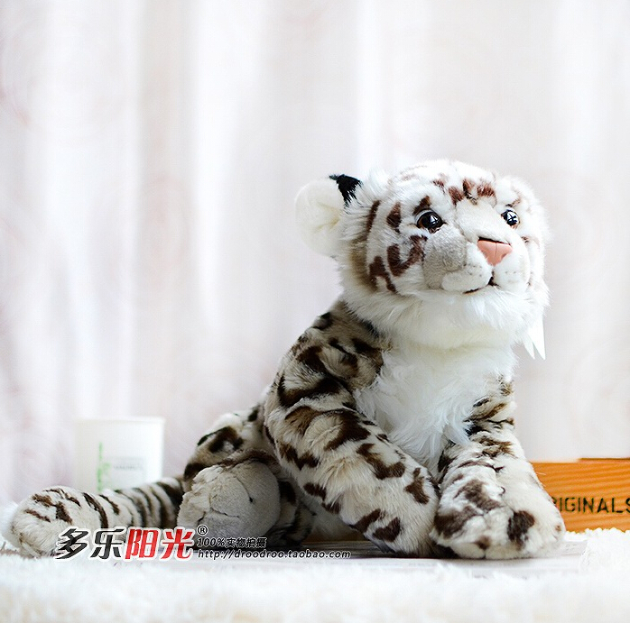 Cute Baby Toy Super Soft Hairy Large Snow Leopard Doll Simulation