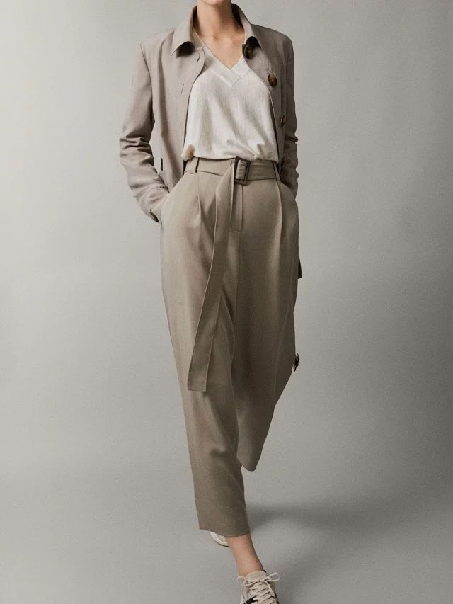 Women Pants 2019 New Lace-up Casual Pants Wide-leg Pants