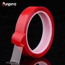 Anpro Прозрачная силиконовая Двухсторонняя клейкая лента наклейка для автомобиля высокопрочная клейкая наклейка Всепогодная акриловая Монтажная лента
