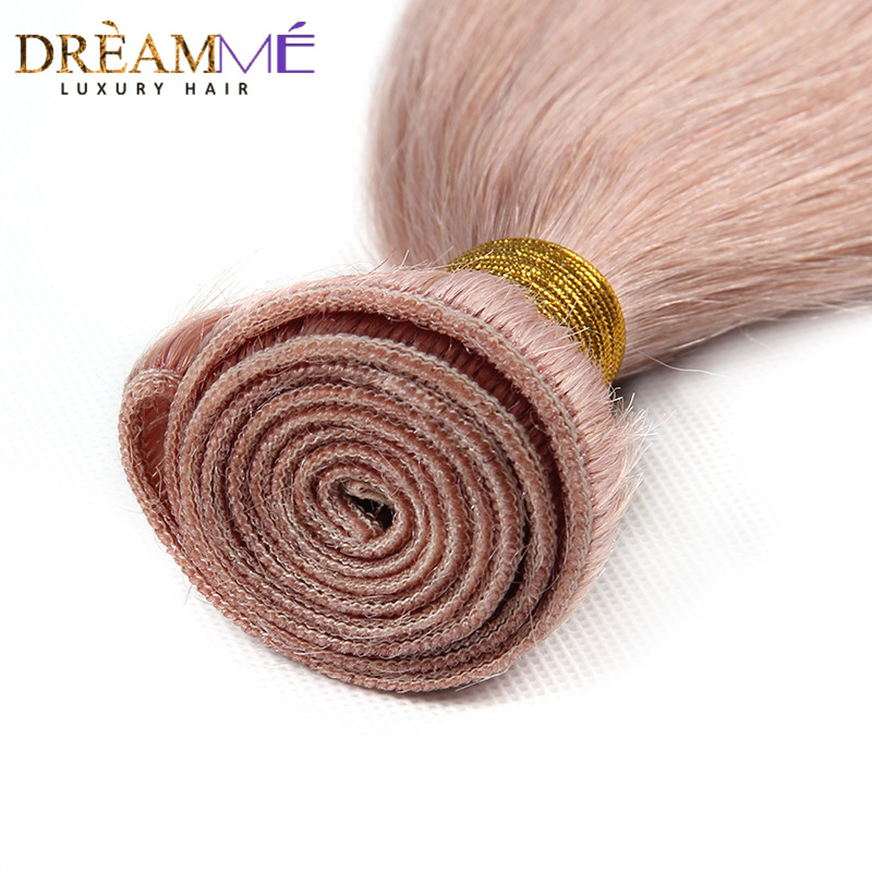 Dreaming Queen Hair Solid Pink Ombre Brasilian Straight Human Hair - Menneskehår (sort) - Foto 4