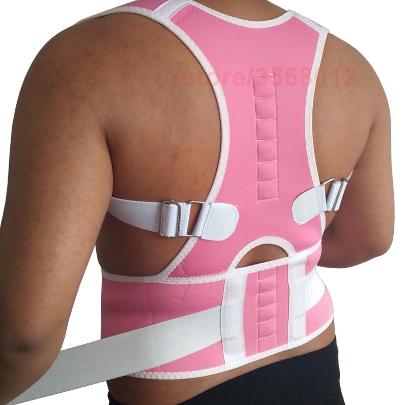 Neoprene Spine Support Belt for Men Back Corset Brace Straightener Shoulder Back Belt Women Magnetic Posture Corrector Plus Size