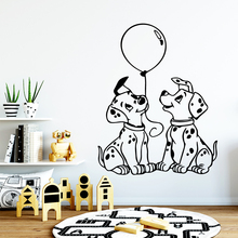 Funny dogs Home Decoration Creative Wall Stickers For Kids Rooms Diy Sticker House Decor Bedroom Wall Mural adesivo de parede цена