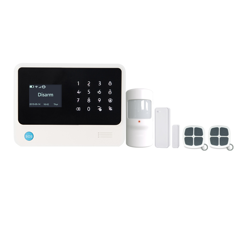 wifi gsm alarm system LCD touch panel home security burglar alarm system IOS /Android APP control 433MHz sensors home security часы rhythm 4mh877wd23