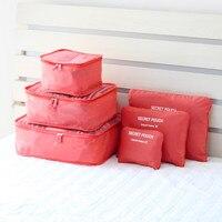 Groothandel (6 stuks/set) roze organisatoren nylon opbergzakken voor kleding sokken reistas hot koop raden top grade
