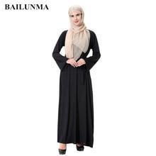 Pearls Buttons abaya turkish women clothing muslims dressislamic fashion islam jurk Black BTH906