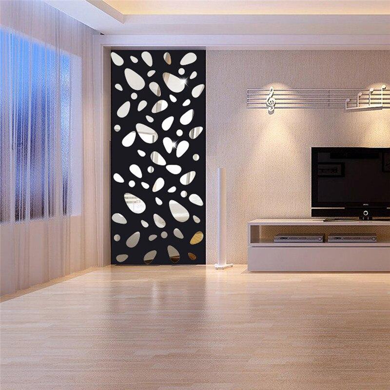 Espejos de pared decoración pegatinas de vinilo removible etiqueta de la pared d
