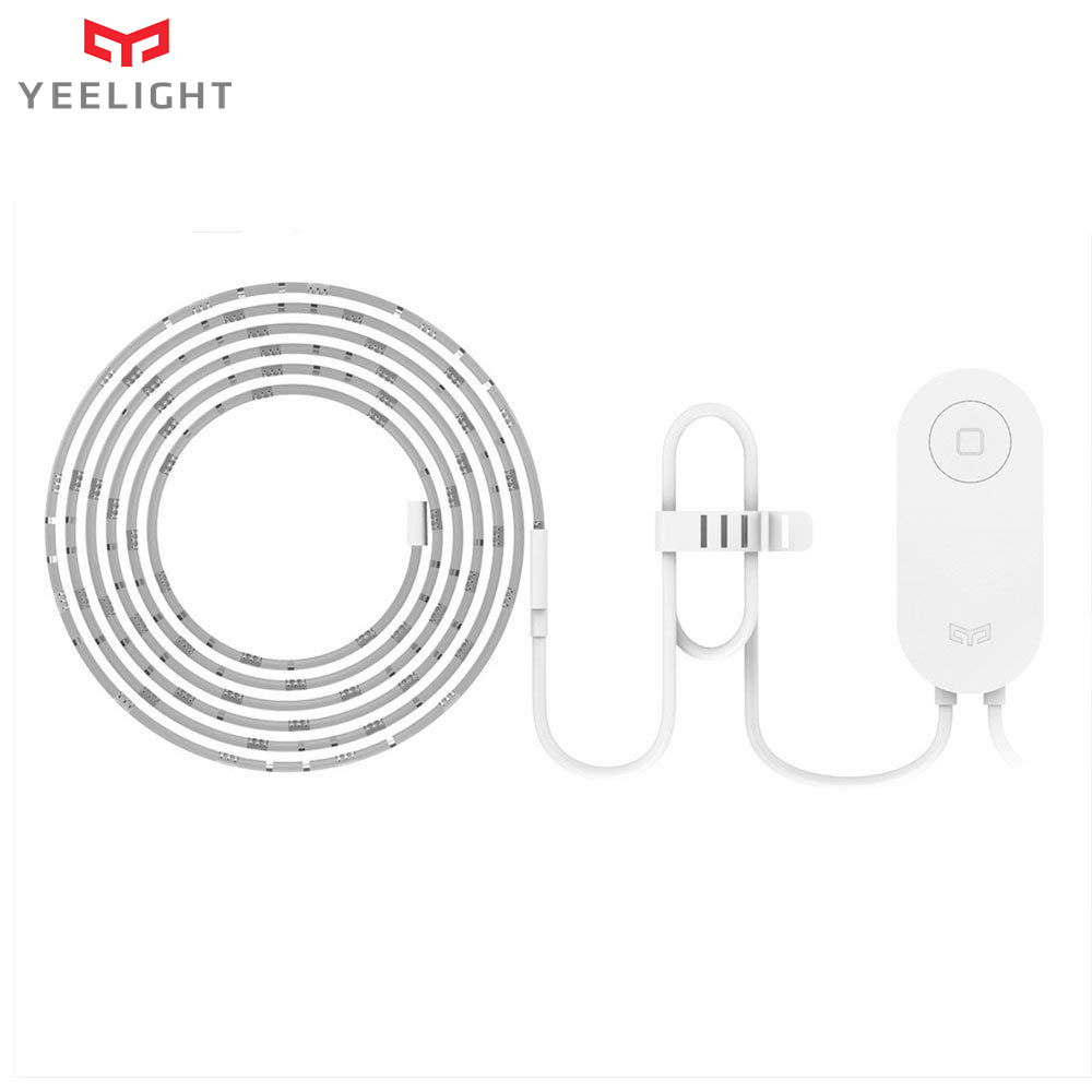 New (International Version) Yeelight Smart LED Light Strip EU/US Plug RGB Colorful Light Strap Band APP Remote Control(China)