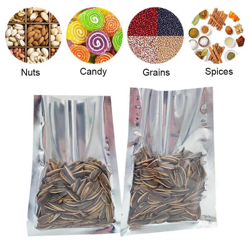 100 шт теплоизоляционные пакеты для хранения алюминиевые вакуумные пакеты из фольги Упаковочные пакеты для пищевых продуктов для орехов can CSV