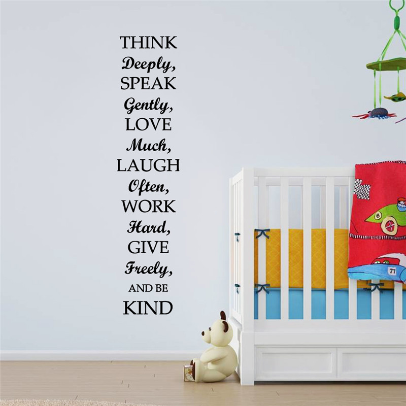 newest 30*132cm Family Rules inspiration quote happy house home decor wall sticker living room bedroom decoration wallposter