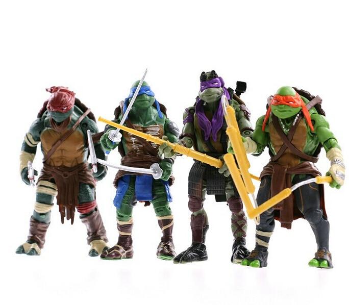 4pcs/set 12cm Teenage Mutant Ninja Turtles Superhero Anime Cartoon TMNT PVC Action Figure Toys Dolls brinquedos