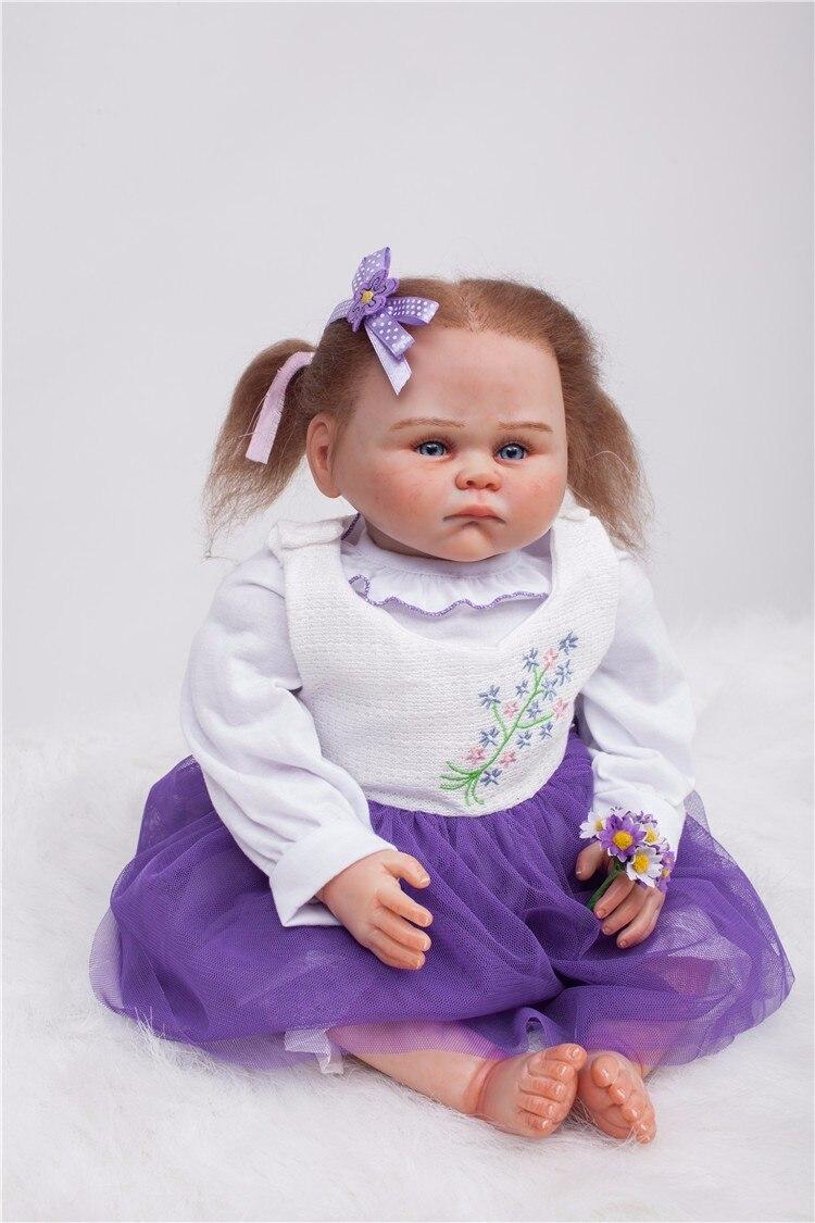 50 cm Édition Limitée Doux Silicone Reborn Bébé Poupée Jouet Réaliste Nouveau-Né Fille Bébé-Reborn Princesse Poupée Fille Cadeau lol d'origine